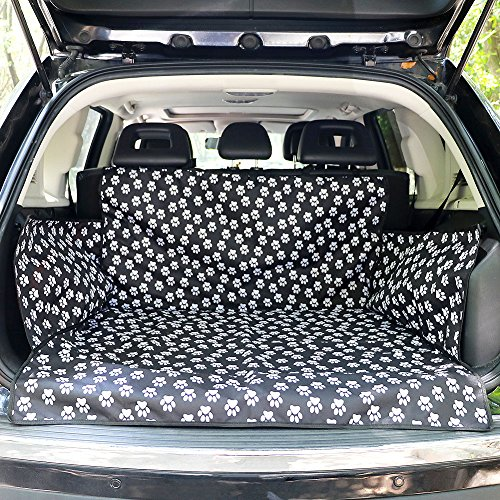 OAKZIP Pet Dog Car Seat Cover Cargo Area Cover Non-Slip Durable Washable Car Seat Protector Scratch Proof Waterproof for Cars Trucks SUV Backseat Universal Fit (foot)