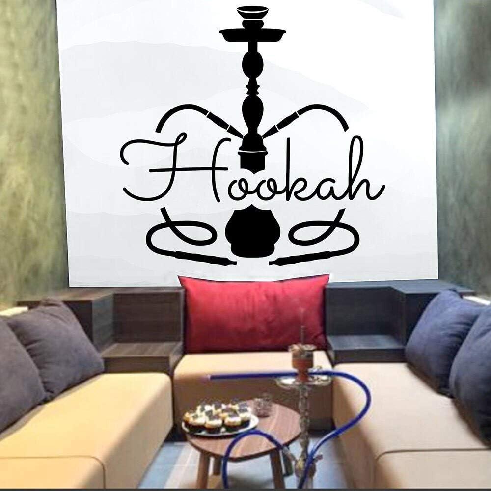 Interesante y creativo cachimba pegatinas de pared de pared vinilo de la pared tienda de cachimba patrón de diseño de sala de fumadores | muy adecuado para dormitorio, aula, sala de estar, oficina
