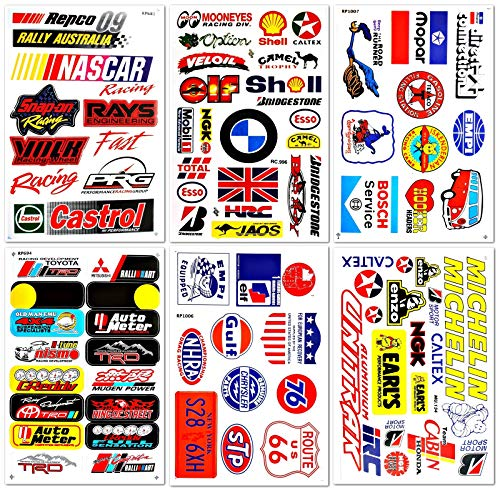 Cars Motorsport Nascar Racing Lot 6 vinyl stickers decals D6093 ()