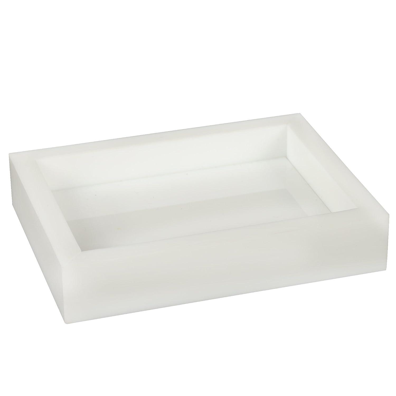 Holder Creative Home Bath Set White Acrylic Bar Soap Dish