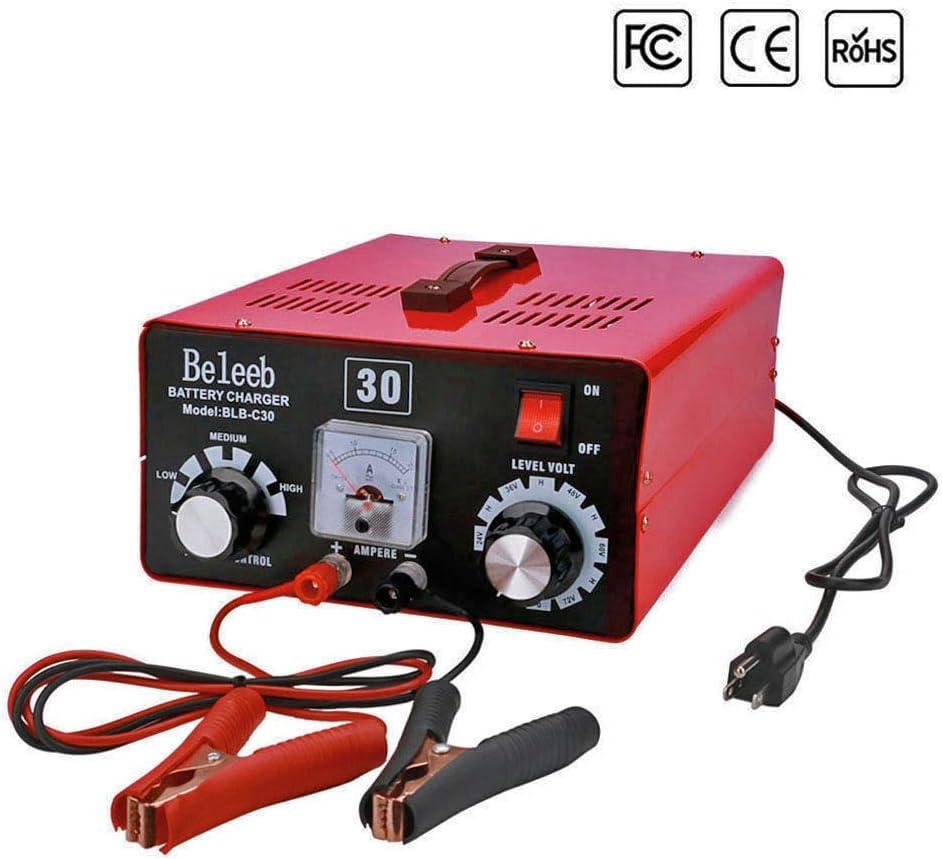 Battery Charger 12V/24V/36V/48V/60V/72V Automatic Maintain, 40-200Ah 15Amp, Volt-Current Manually Adjusted, with Clips Ammeter, Suitable for Golf Cart ...