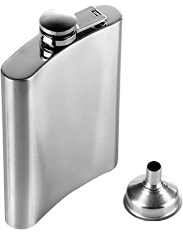 Anpro Stainless Steel Hip Flask with Funnel 240ml