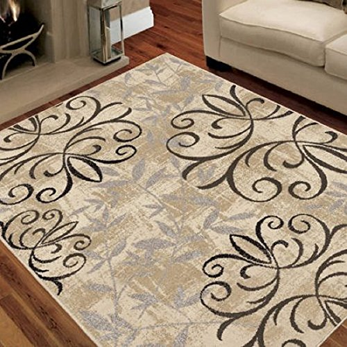 "Better Homes and Gardens Iron Fleur Area Rug or Runner (2'6"" x 3'8"", Beige) from Better Homes & Gardens"