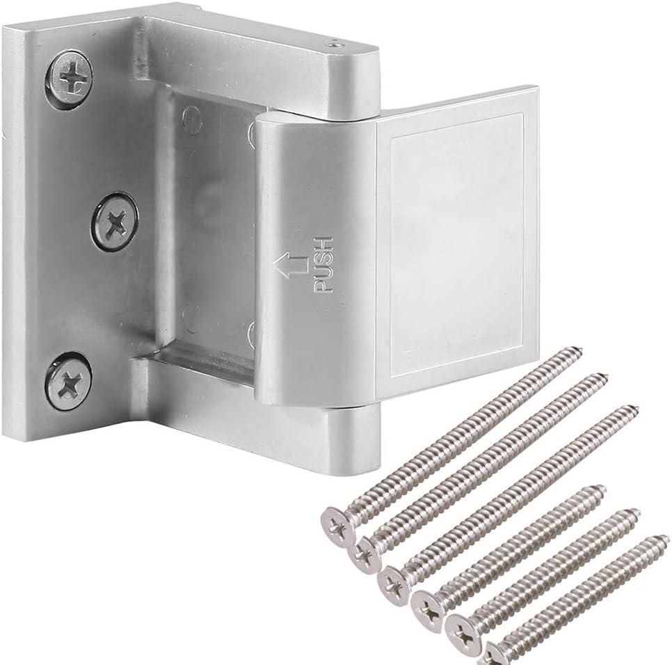 Hotel Security Door Lock with 6 Stainless Steel Screws,Door Reinforcement Locks with 3