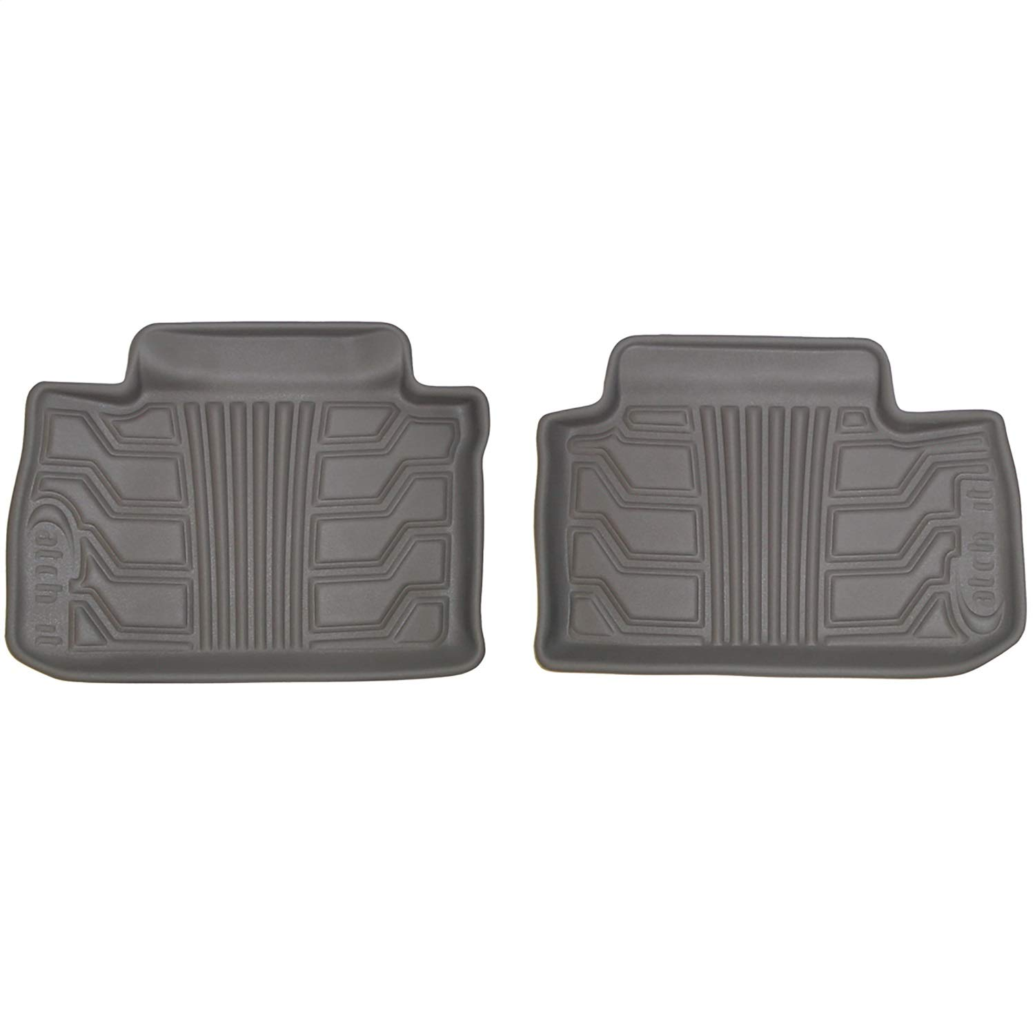 Lund 383003-G Catch-It Vinyl Grey Rear Seat Floor Mat Set of 2