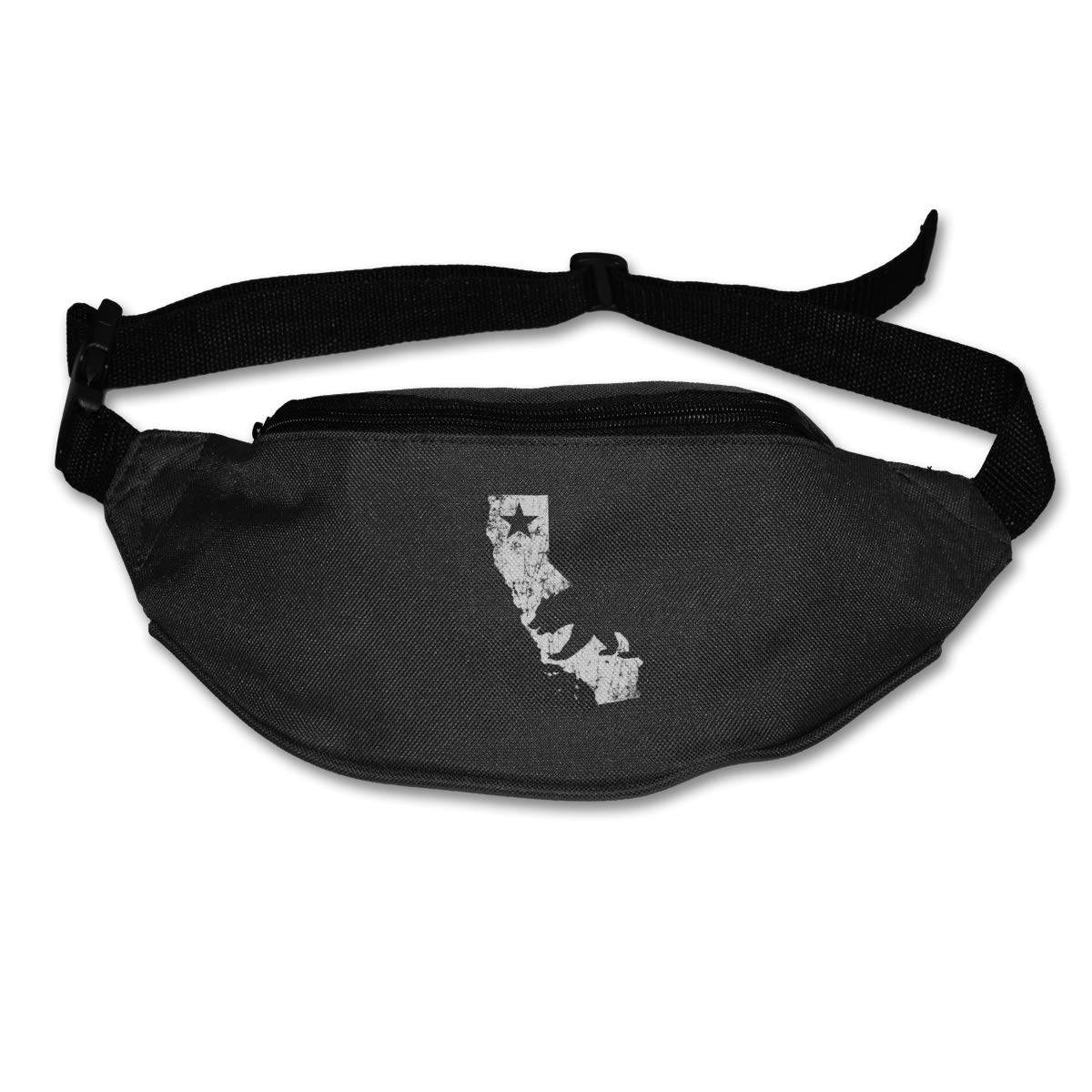 California Bear Map Star Sport Waist Packs Fanny Pack Adjustable For Hike