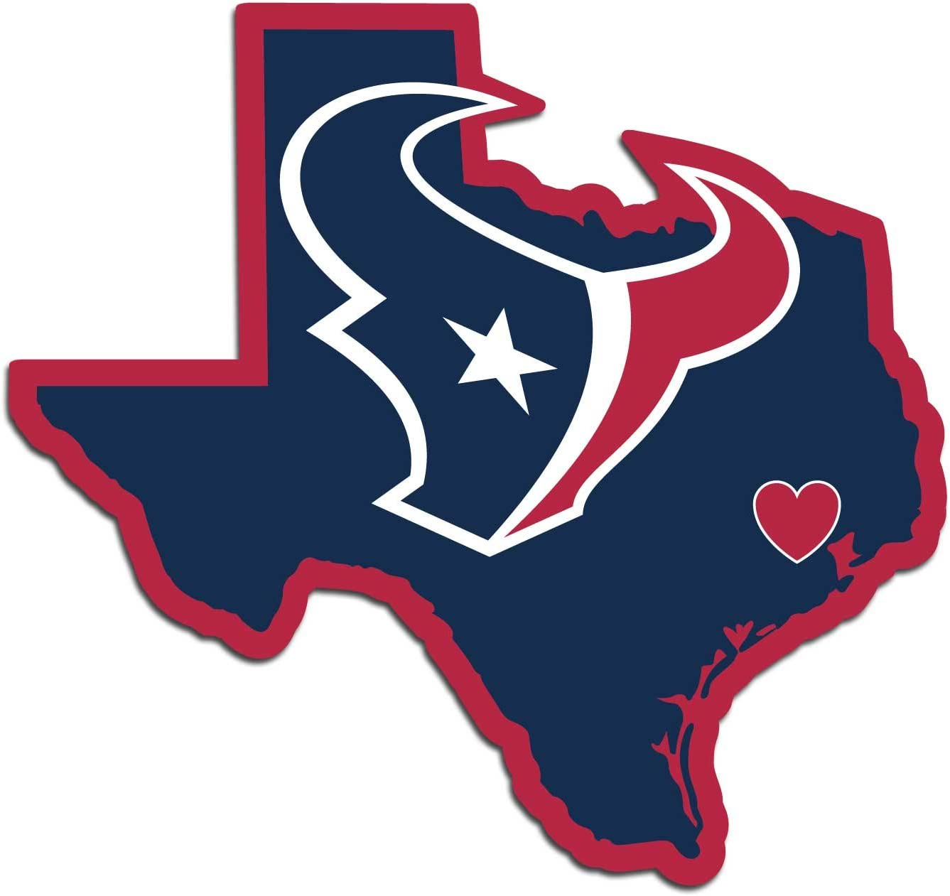 NFL Siskiyou Sports Fan Shop Houston Texans Home State Decal One Size Team Color