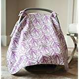 Carseat Canopy (Mikayla) Baby Infant Car Seat Cover W/attachment Straps and Minky Fabric