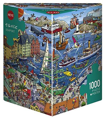 Heye Seaport Tanck Triangular Puzzles (1000-Piece, Multi-Colour)