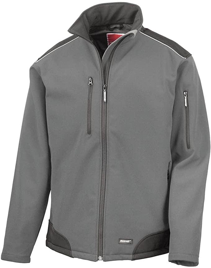 Result R124a Ripstop Softshell Workwear Jacket: Amazon.co.uk: Sports &  Outdoors