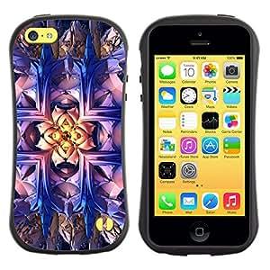 Paccase / Suave TPU GEL Caso Carcasa de Protección Funda para - Wallpaper Magical Art Bling Drawing Bright - Apple Iphone 5C