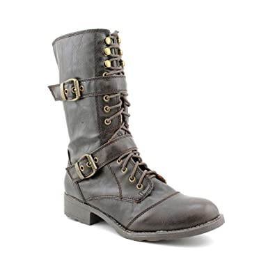 49c03819f Amazon.com | G by Guess Women's Better Motorcycle Boots in Dark ...