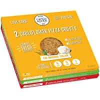 Cali'flour Foods Gluten Free, Low Carb Cauliflower 2 Original Italian Pizza Crusts, 2 Spicy Jalapeno Pizza Crusts, 2 Sweet Red Pepper Pizza Crusts - 3 Boxes - (6 Total Crusts, 2 Per Box)