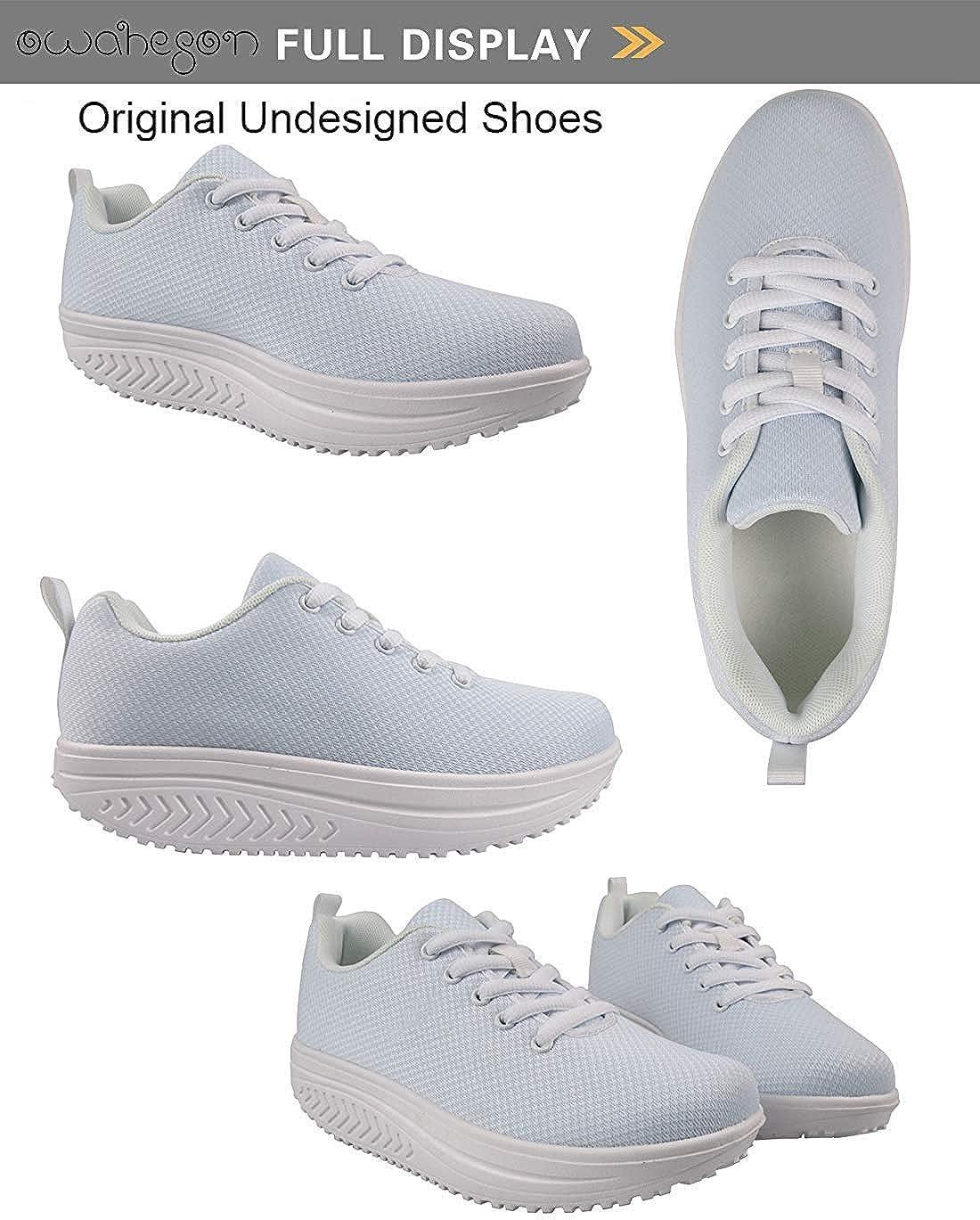 Owaheson Swing Platform Toning Fitness Casual Walking Shoes Wedge Sneaker Women Montenegro Flag