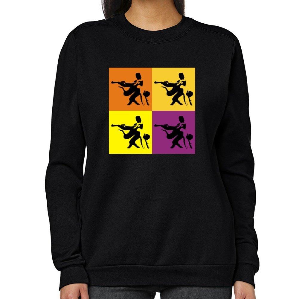 Teeburon Wrestling WARHOL Women Sweatshirt