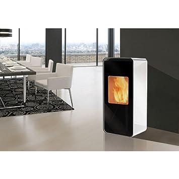 Estufa de pellet EDILKAMIN NEA 8 kW, blanco: Amazon.es: Bricolaje y herramientas
