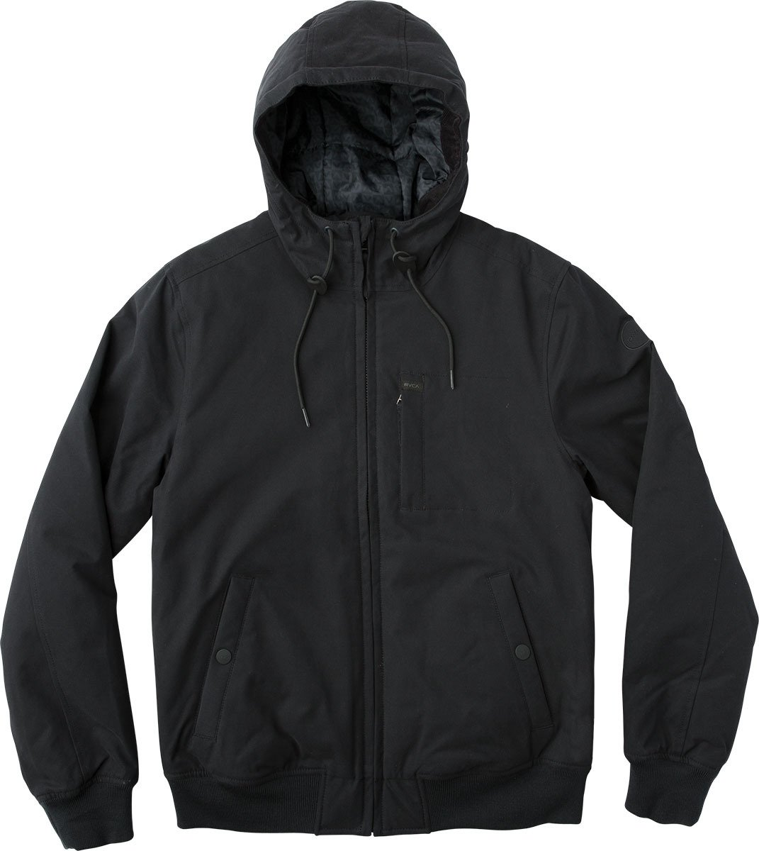 RVCA Men's Hooded Bomber Jacket, Black, M by RVCA