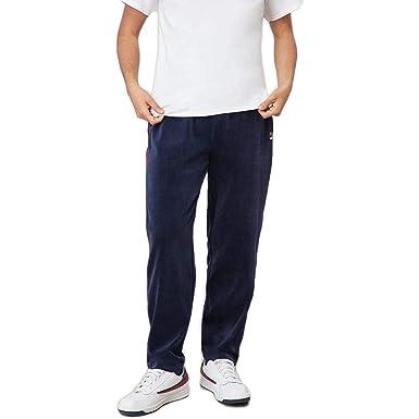 45a403aacd0 Fila Men's Velour Pants - Blue -: Amazon.co.uk: Clothing