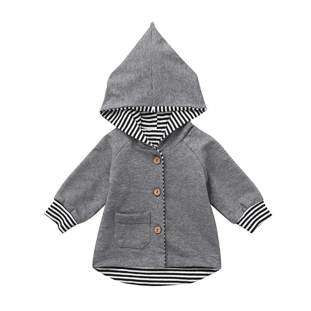 Newborn Baby Coat, Infant Boys Girls Striped Sweatshirt Hoodie Cardigan Coat Clothes