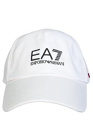 90791f67a40 Emporio Armani EA7 275365 Adjustable White Baseball Cap One Size   Amazon.co.uk  Clothing