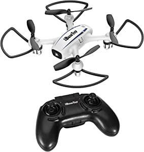 Mini Quadcopter Drone for Kids Beginners Adults, iBaseToy RC Training Quadcopter, with 2.4Ghz 6-Axis Gyro 4 Channels, Headless Mode, One Key Return and Stop, Altitude Hold, 3 Speed Modes, 3D Flips