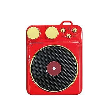 Technology Altavoz portátil, pequeño estéreo Retro del ...