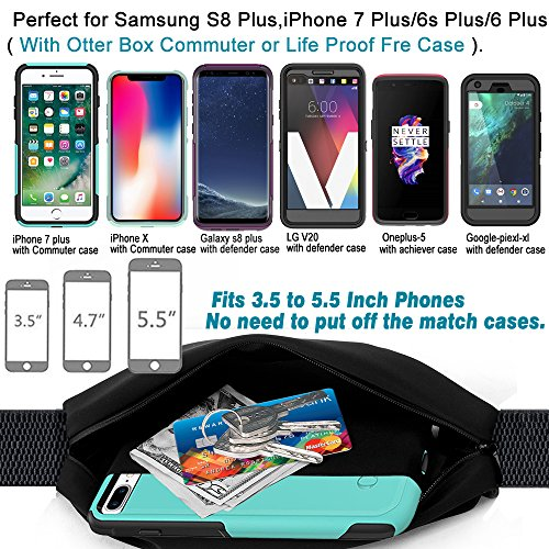 Smartlle Fanny pack, Running Belt, Waist Bag for Women & Men for iPhone 12/11 Pro/11 Pro Max/XR/XS Max/X/XS/8 7 6 6S…