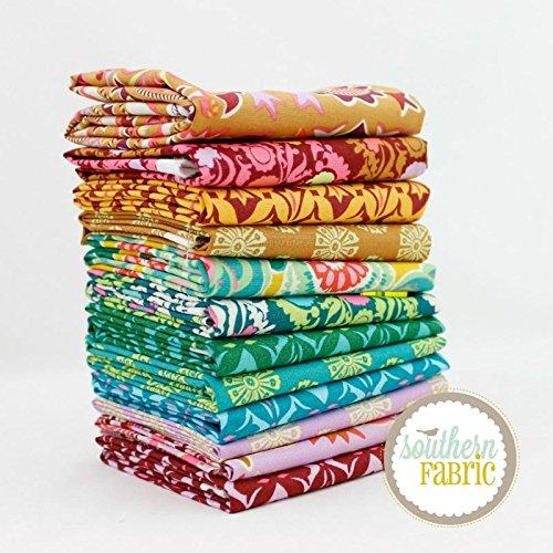 Amy Butler Quilt (Free Spirit Dream Weaver Fat Quarter Bundle (11 pcs) - Amy Butler 18 x 21 inches (45.72cm x 53.34cm) fabric cuts DIY quilt fabric)