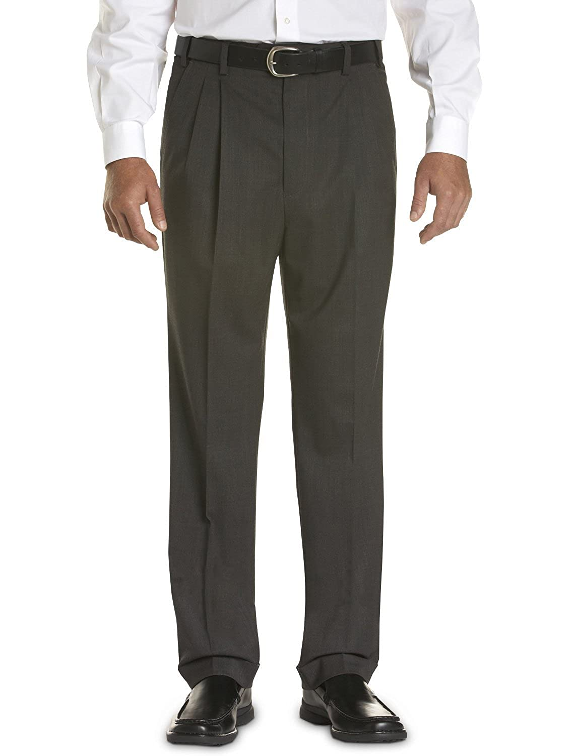 Gold Series Big & Tall Continuous Comfort Pleated Sateen Dress Pants