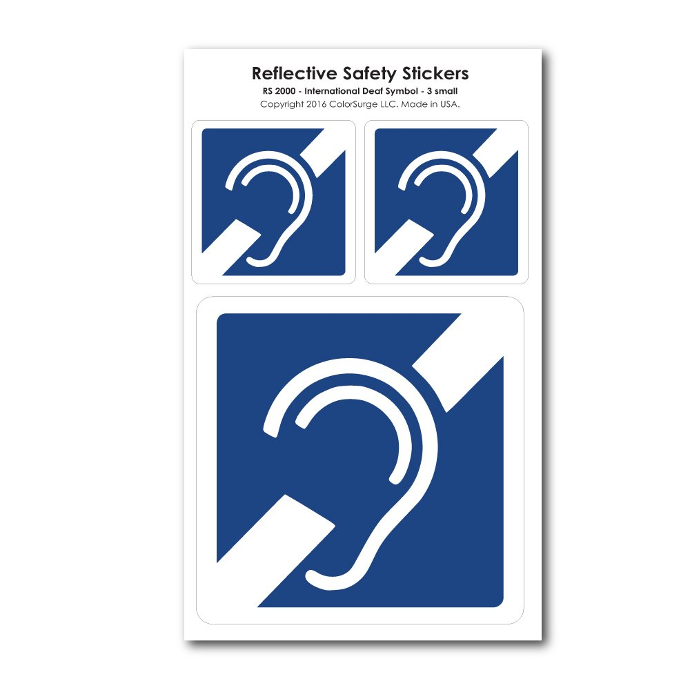Amazon Car Decals For Deaf And Hard Of Hearing Health