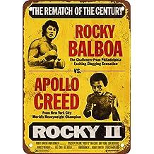 1979 Rocky Balboa vs. Apollo Creed Vintage Look Reproduction Metal Tin Sign 8X12 Inches