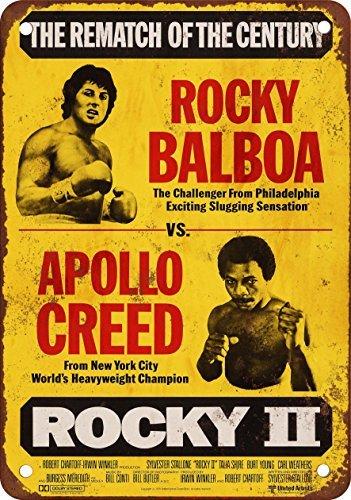 (1979 Rocky Balboa vs. Apollo Creed Vintage Look Reproduction Metal Tin Sign 12X18)