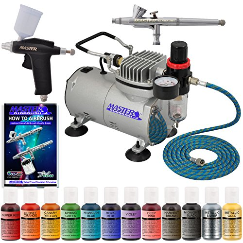 Super Deluxe 2 Airbrush Master Airbrush Cake Decorating Airbrushing System Kit