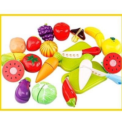 20pcs Jouet de Cuisine Jouets de Coupe Légumes & Fruits Ensemble avec Planche à Découper Meilleur Cadeau Pour Bébé Enfants Enfants
