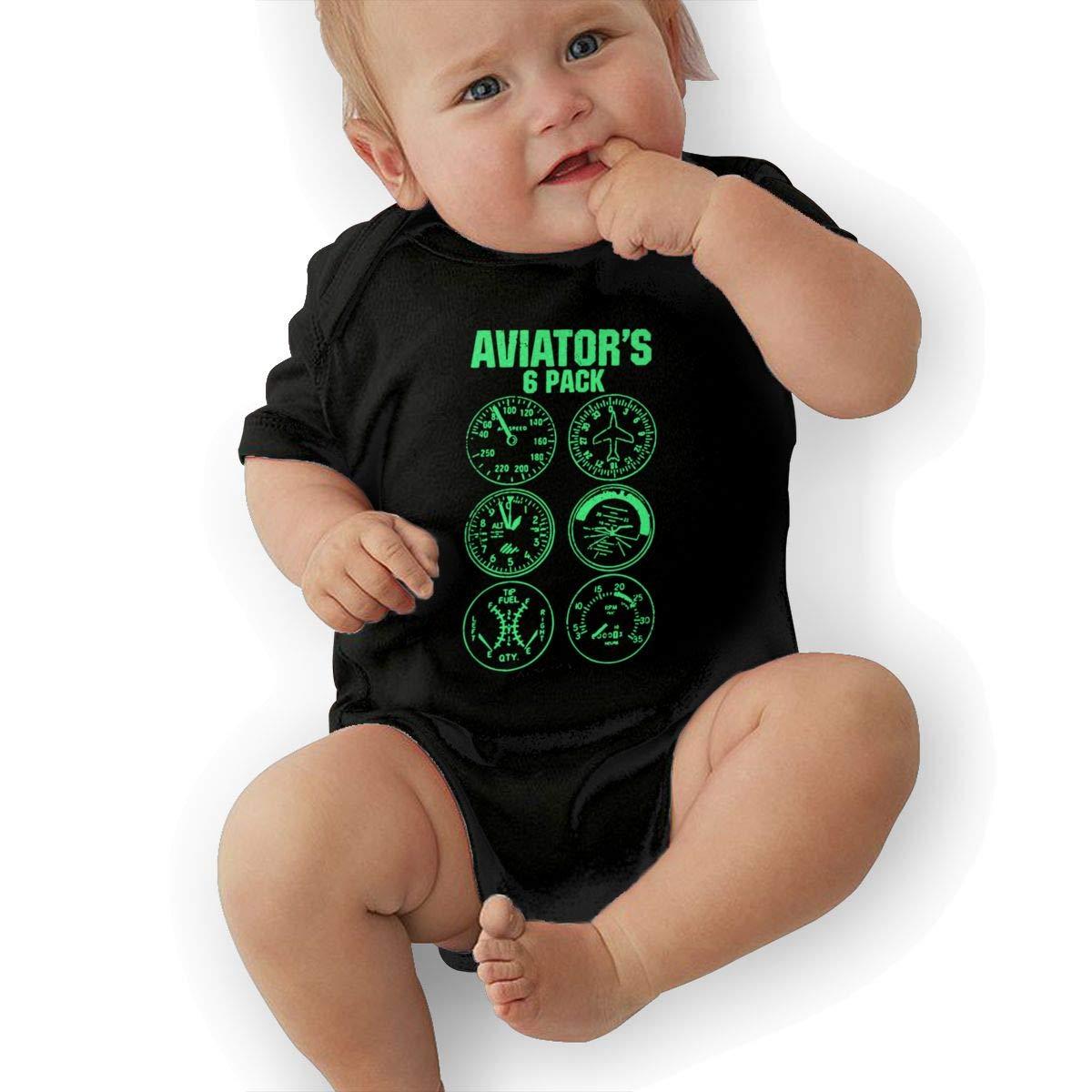 Xuforget Aviator Six Pack Babys Boys /& Girls Short Sleeve Bodysuit Babys
