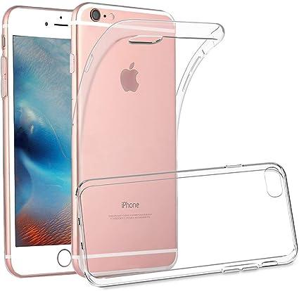 Finemoco Coque iPhone 6S Plus,Transparente Étui en Silicone pour iPhone 6 Plus Ultra-Fine Antichoc Clear Case Cover Flexible Souple TPU Housse de ...