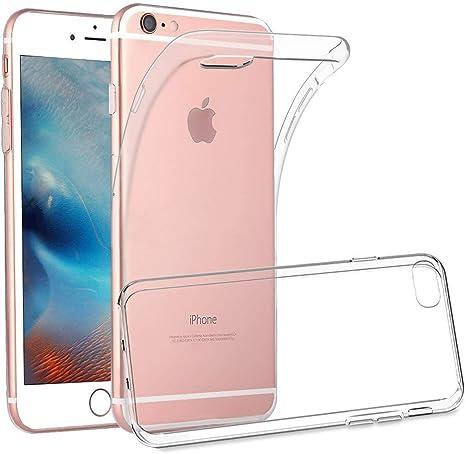 Finemoco Cover iPhone 6S Plus,Cover iPhone 6 Plus Custodia Trasparente Silicone Morbido Protezione Case Antiurto Gel TPU Flessibile Custodia Sottile ...