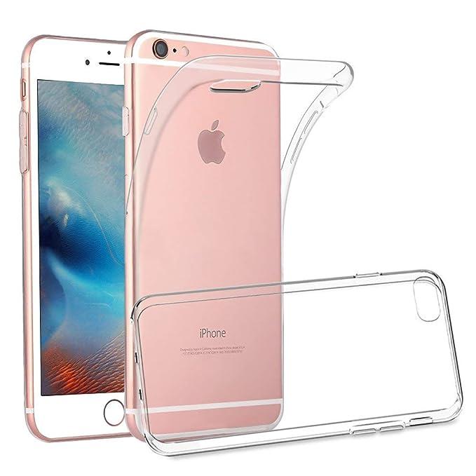 Yichxu iPhone 6S Plus Hülle, Crystal Clear Silikon Handyhülle für iPhone 6 Plus, Weiche TPU Durchsichtige Schutzhülle Ultradü