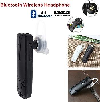 Saraoriginalshop - Auricular Bluetooth 4.1 para Smartphone iPhone, Samsung, Huawei, Xiaomi, Color Negro: Amazon.es: Electrónica