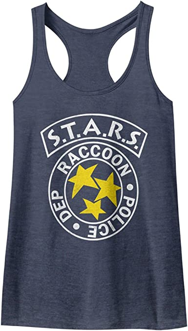 Resident Evil Horror Science Fiction Video Game RPD Stars Womens Tank Top Tee