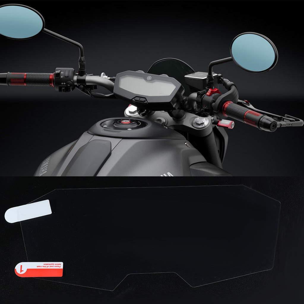 Qiman 2 Set Cluster Scratch Cluster Displayschutzfolie F/ür Yamaha MT07 MT 07 MT-07 FZ07 FZ 07 FZ-07