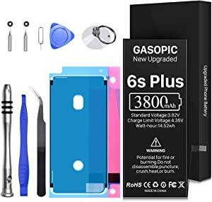 3800mAh Battery for iPhone 6S Plus, Upgraded Replacement Battery A1634 A1687 A1699 with Complete Repair Tool Kits and Adhesive Strips (NOT for 6S/6Plus)