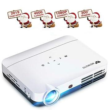Proyector WOWOTO H9 4000 lúmenes Mini proyector LED DLP 1280 x 800 ...