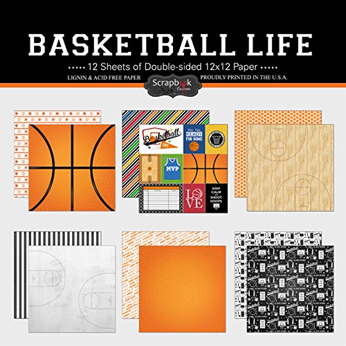 - Scrapbook Customs Themed Paper Scrapbook Kit, Basketball Life