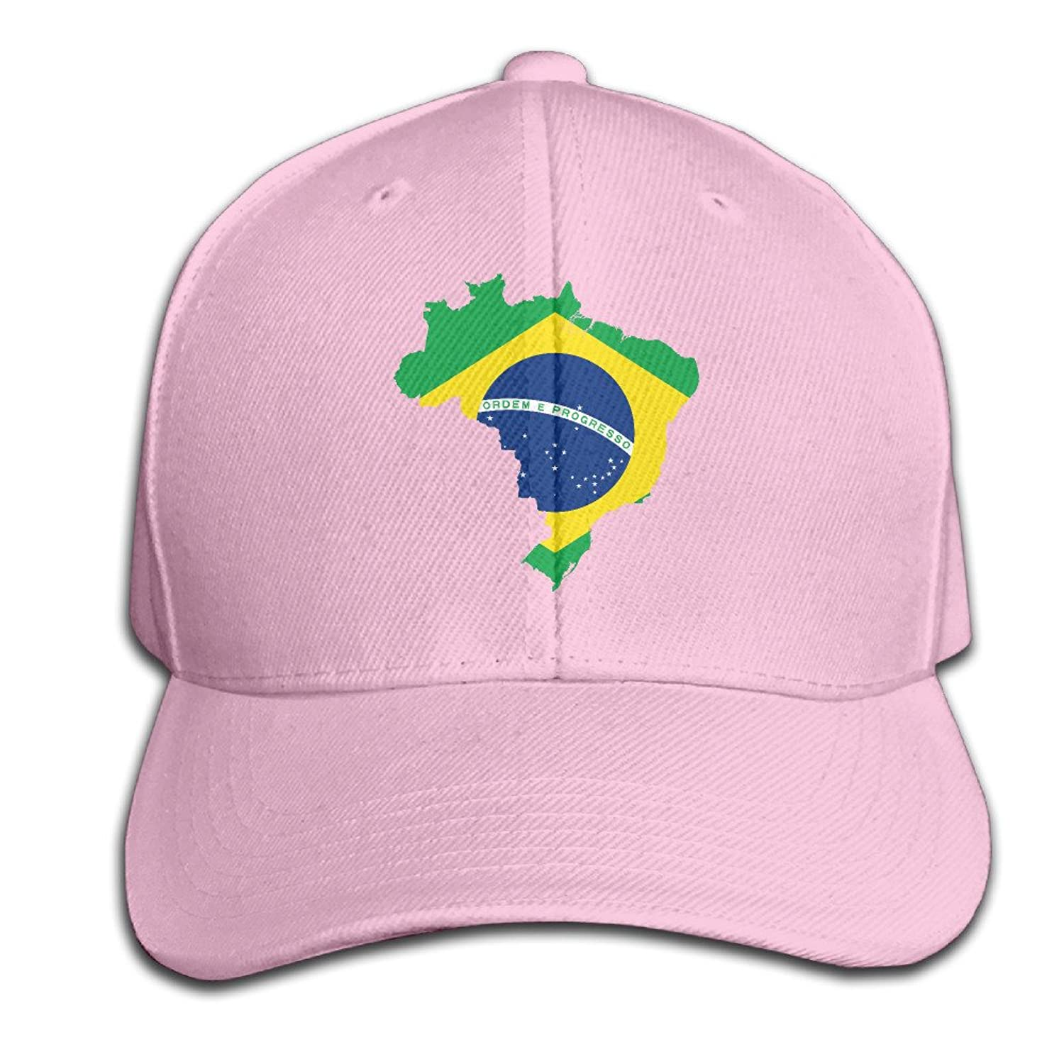 AGMPO Unisex Map Of Brazil With Flag Peaked Baseball Cap Hats