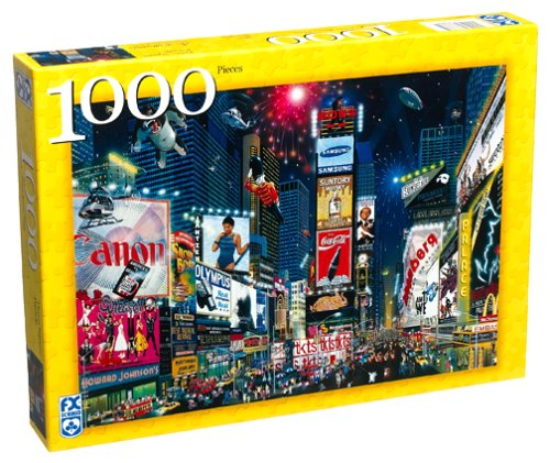 1000 Piece F.X. Schmid Jigsaw Puzzle of Times Square Parade New York City by FX Schmid