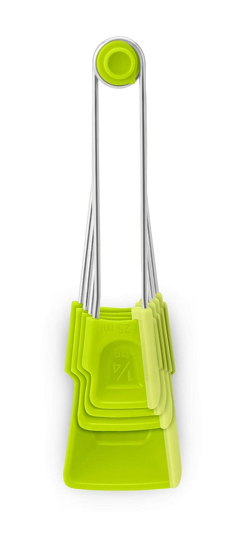 Black Levoons Self-Leveling Measuring Spoons Dreamfarm Set of 4