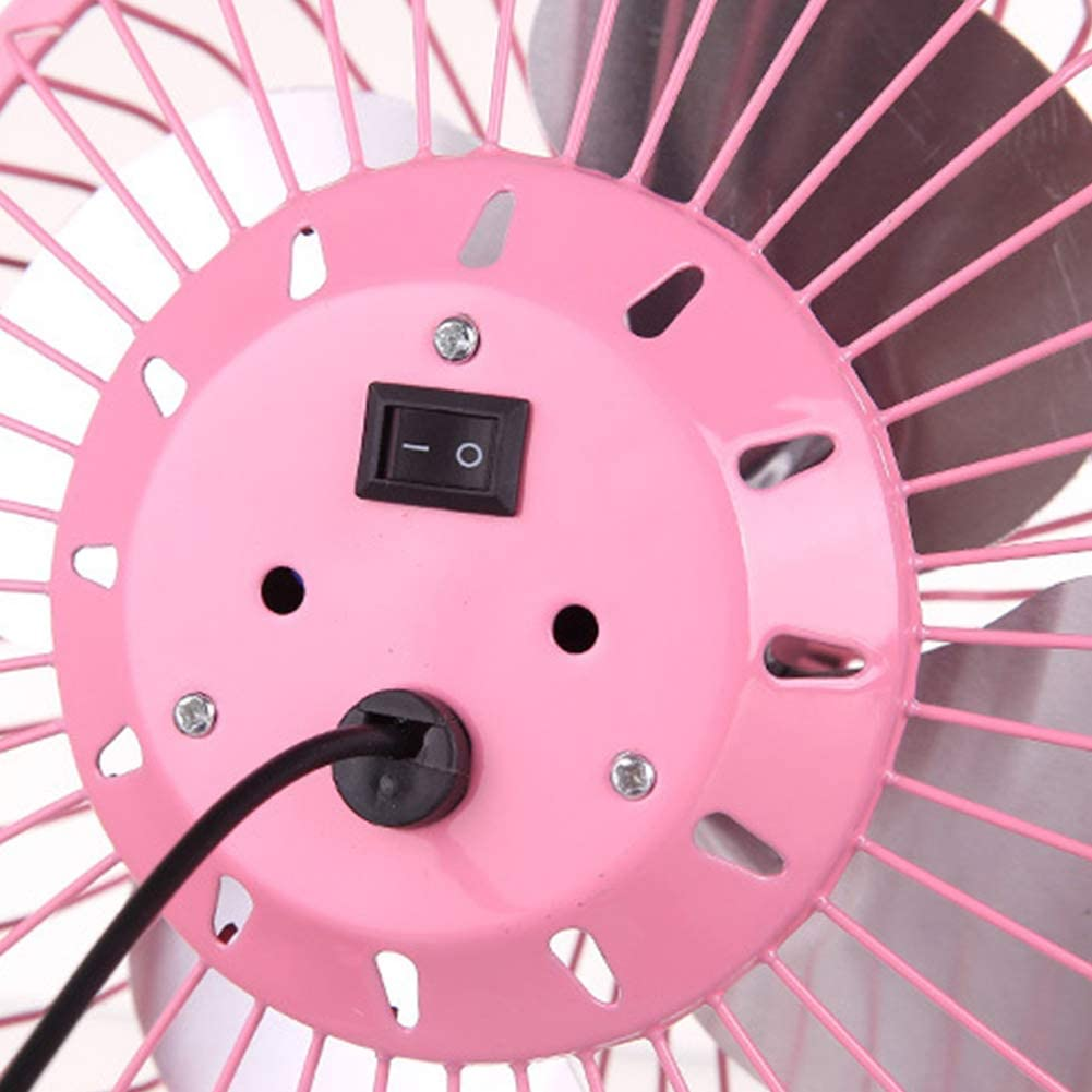 Low Noise Personal Table Mini Metal Fan 4 Inch Portable Table Fan Pink Jiecikou Desktop USB Fan