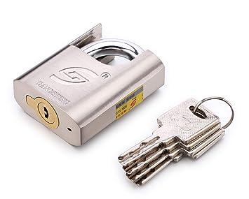 Bloqueo y acero inoxidable de aleación zinc local candado llave, con un código cubierta se encuentran en combinación 50 mm largo grillete (2 7/8