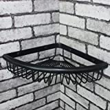 Modern Wall Mount Shower Corner Caddy Angle Shaped Solod Brass Shower Basket and Storage Caddy Wire Soap Basket Shower Holder Oil Rubbed Bronze Finish (Angle, Oil Rubbed Bronze)